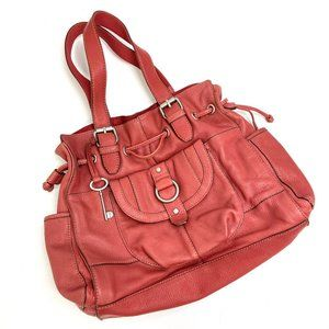 Fossil | Genuine Leather Red Large Tote